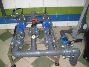 Механические фильтры с трубопроводом