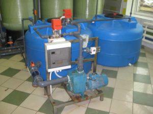 Автоматическая система солерастворения для установки умягчения 30м3/час